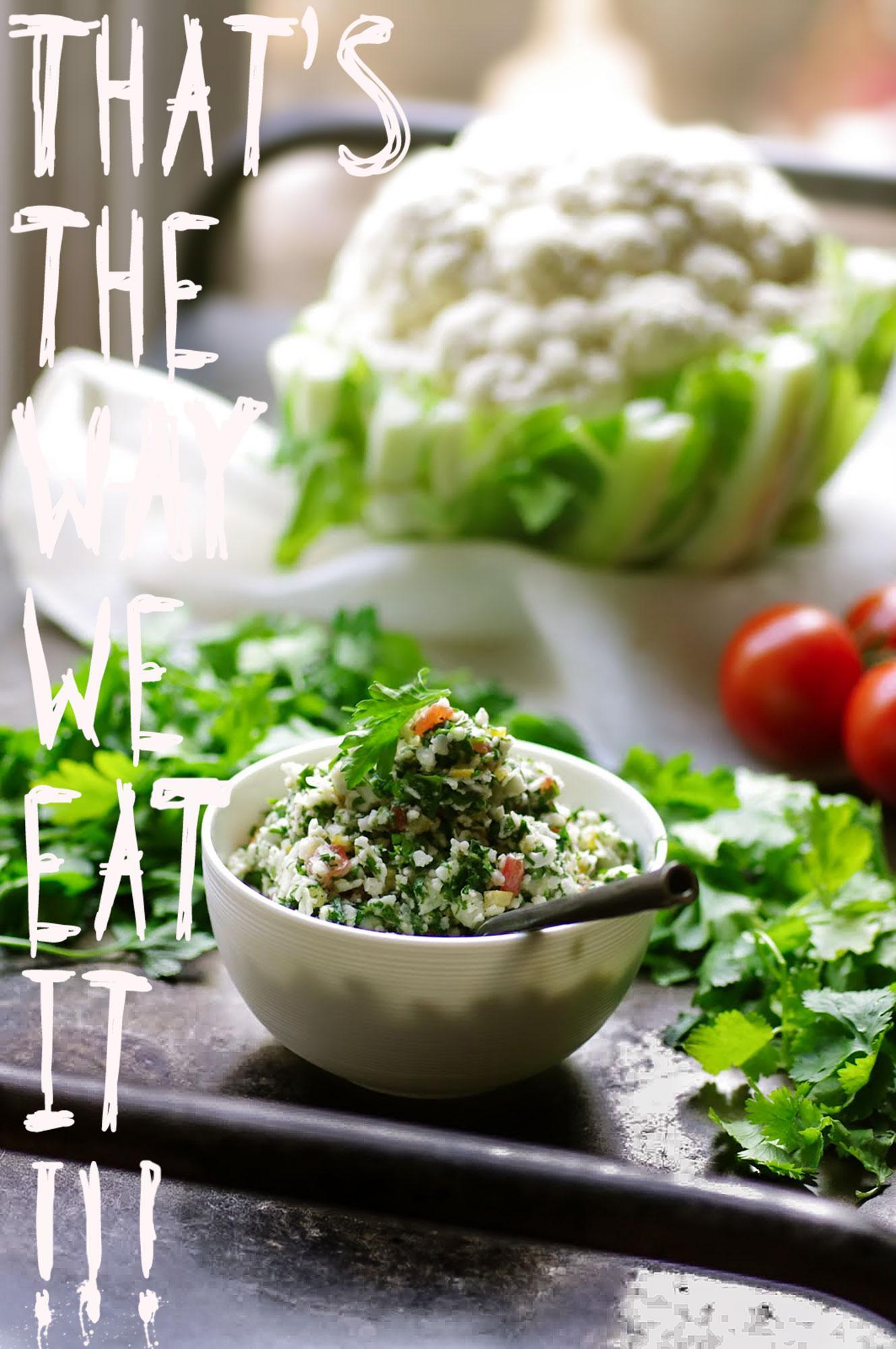 coliflower chauffeur, taboule, labanese, libanais healthy ,veggie, green