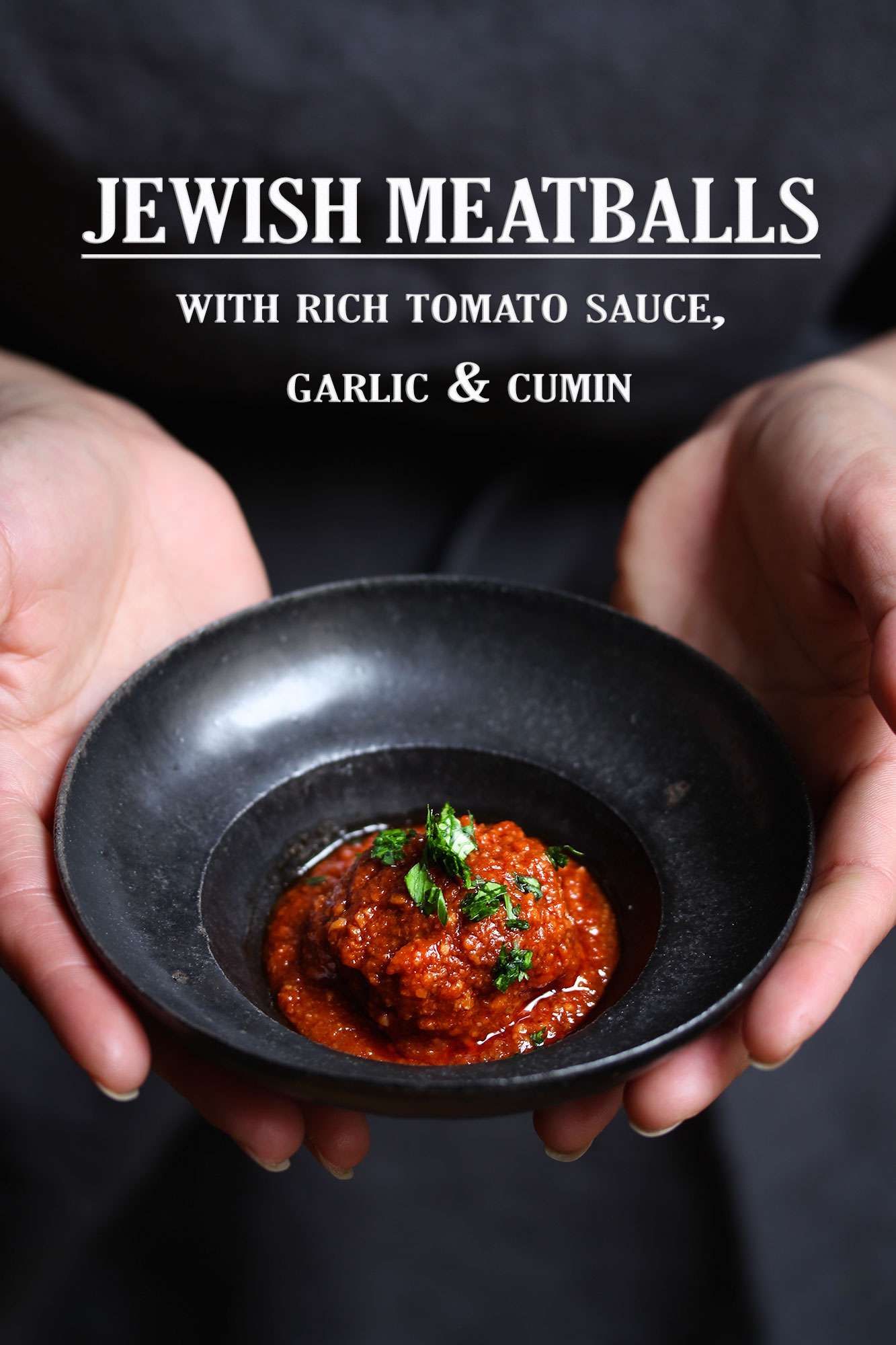 tomato sauce and cumin meatballs