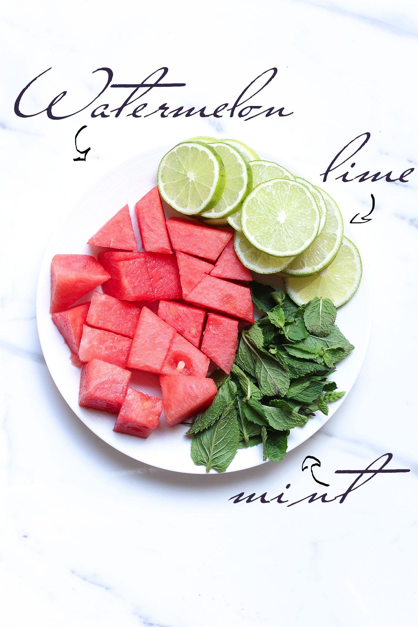 watermelon, cocktail , drink , cooler, healthy, bassinet, santé, pasteque, citron vert, granité, rafraichissant, boisson, antyoxydant, melon d'eau, mint, menthe, lime, crushed ice, kosher, recipe, recete, ingredients, yummy, food,